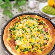 虾仁培根田园披萨