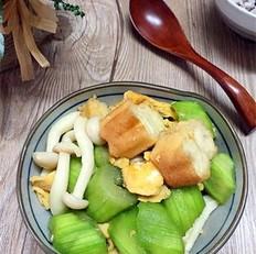 丝瓜鸡蛋炒油条