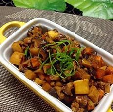 双菇豆豉肉酱