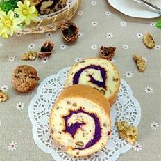 核桃紫薯蛋糕卷