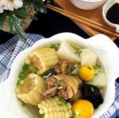 玉米山药母鸡汤