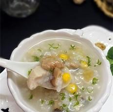 香菇核桃滑鸡粥