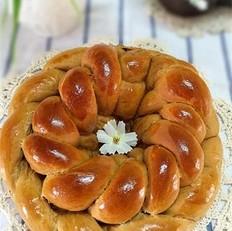 咖啡花环面包