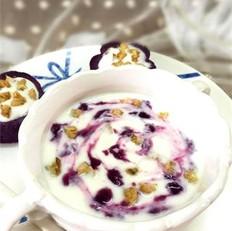 紫薯核桃酸奶