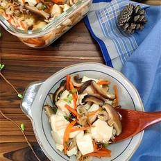 微波炉虾皮香菇豆腐