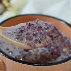 紫米椰汁西米露