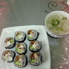 金枪鱼寿司+鲅鱼丸汤