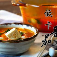 低卡番茄豆腐汤的做法