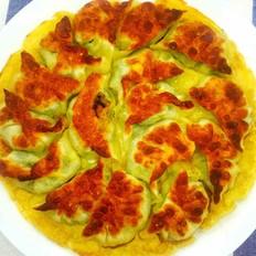 生煎韭菜鸡蛋饺子