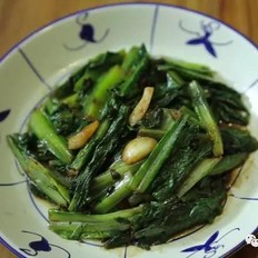 豆豉炒油麦菜