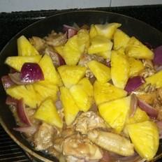 鸡翅炒菠萝