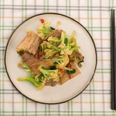 铸铁锅干锅花菜
