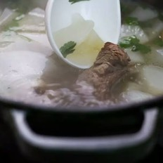 清炖羊排萝卜汤
