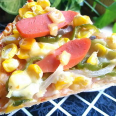 火腿玉米披萨