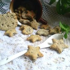 花生黑芝麻小饼干的做法