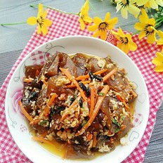 胡萝卜炒红薯粉条