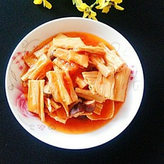 茄汁香菇烩腐竹