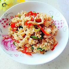辣椒肉丝炒饭
