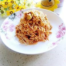 金针菇炒蛋