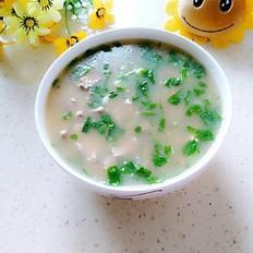 猪肝瘦肉青菜粥