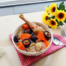 胡萝卜香菇炖鸡
