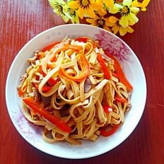 红椒炒豆腐丝