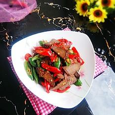 辣炒卤驴肉