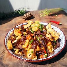 木耳炒油豆腐