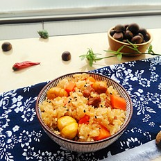板栗糯米饭