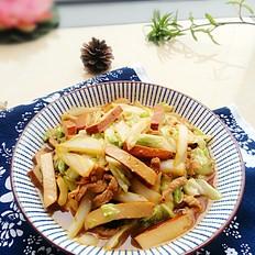 香干白菜炒肉