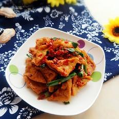 青蒜烧油豆腐