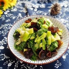 白菜苔炒木耳