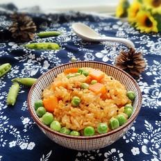 胡萝卜豌豆糯米饭