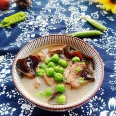 豌豆木耳猪肝汤