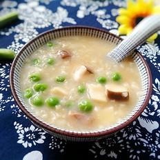 杏鲍菇豌豆肉粥