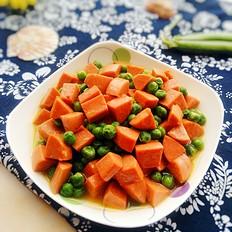 豌豆炒火腿肠
