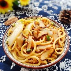香菇白菜炒面