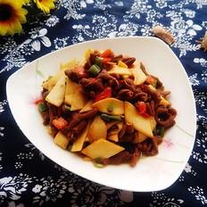 杏鲍菇炒卤鸭肠