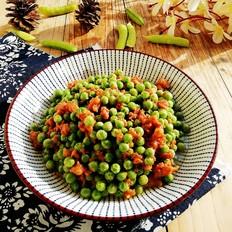 肉末炒豌豆