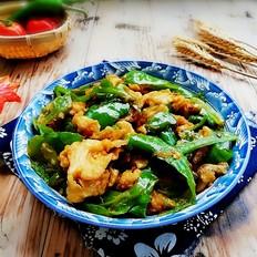 青椒炒薯粉鸡蛋