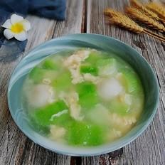 丝瓜鱼丸蛋汤