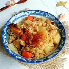 腊鱼土豆焖饭