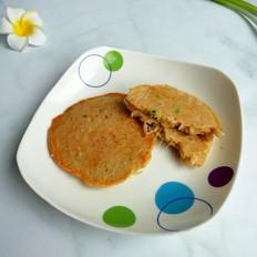 金针菇虾皮蛋饼