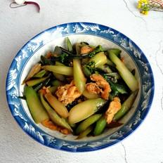 红菜苔炒鸡蛋