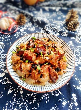 腊鱼腩蒸芋头