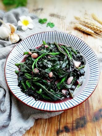 蒜蓉紫贝菜的做法