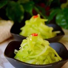 凉拌莴苣丝