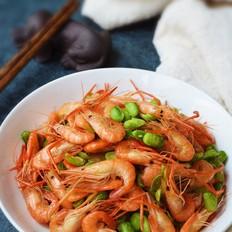 爆炒河虾豆子
