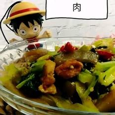 芹菜炒魔芋-家常小炒菜