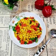 五彩椒香玉米粒-谁说偷来的玉米才最香